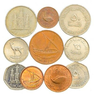 United Arab Emirates Coins From Middle East Emirates (Uae) Western Asia