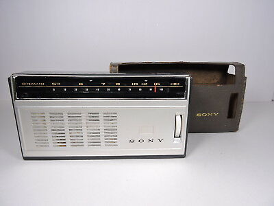 "Vintage 1960's Sony TR-818 ""Super Sensitive"" 8 Transistor Radio - Tested Working"