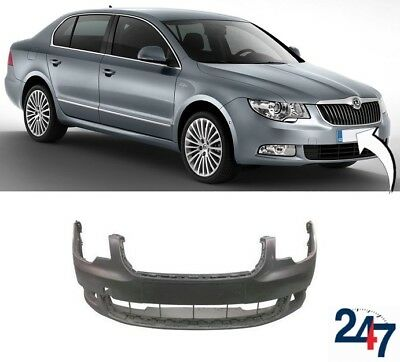 New Skoda Superb 2008 - 2013 Front Bumper Without Headlight Washer And Pdc Holes