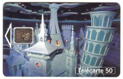 50u Euro Disneyland 'It's A Small World' 1994. USED Phone Card