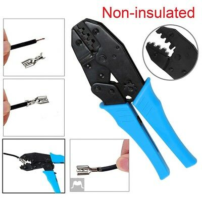Ratchet Cable Crimper Electrical Non-insulated Ferrule Wire Plier Crimping Tools
