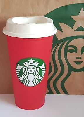 Starbucks Reuseable Cup Red Xmas 2018, Brand New, Limited Edition.