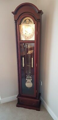 ,Contemporary Double chiming Grandfather or longcase clock- immaculate conditio