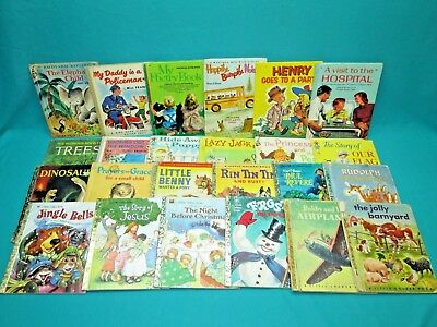Vintage Children's Books--Lot Of 24 Assorted Ages And Titles--G-27