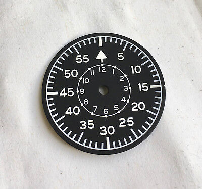 Pilot Aviation Aviator Luftwaffe B-Uhr Seiko Watch Dial for 7S26 NH35 movement