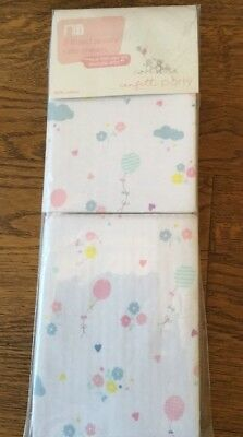 Mothercare Confetti Party Pack Of 2 Jersey Fitted Crib Sheets...bnip