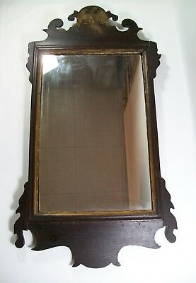 Antique Chippendale Federal Mirror Eagle Period 18th Century American [8074]