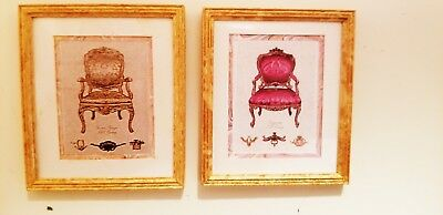 Dollhouse  Mcbay~Set 2 Chair Pictures~~~ # 1