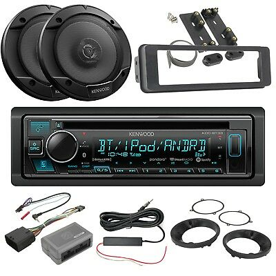 "Kenwood Receiver, 2 x 6.5"" Speakers, Dash Kit, Handlebar Controls, Accessories"
