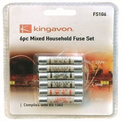 Mixed Ceramic Household Domestic Mains Plug Top Fuses Electrical Cartridge