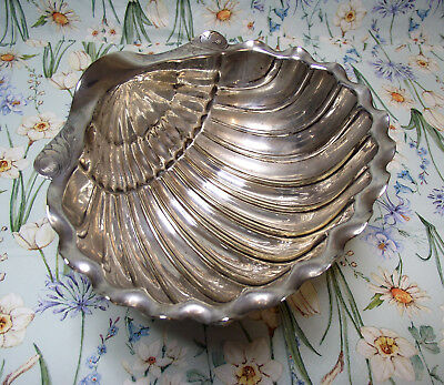 Victorian Silver Plated Scallop Shell Serving Bowl Henry Wilkinson & Co