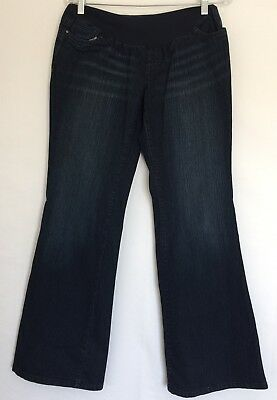 Women's OH BABY by MOTHERHOOD Maternity Boot Flare Denim Blue Jeans Sz Medium