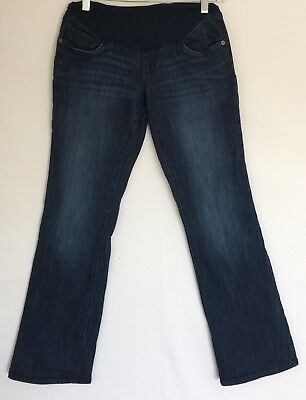 Women's OH BABY by MOTHERHOOD Maternity Boot Cut Denim Blue Jeans Sz Small