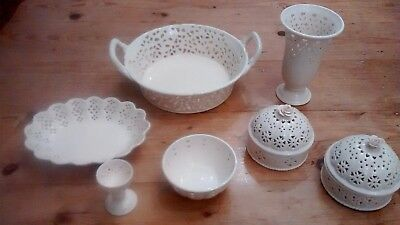 China pottery 7 piece creamware collection