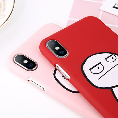 Cartoon Cover Phone Case Slim Hard Patterned Armor for iPhone XR XS Max X 8 7
