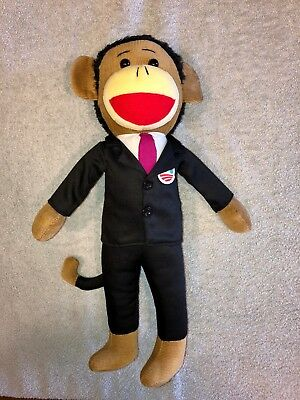 The Sock Obama toy, Black Americana, controversial vintage sock monkey variant.