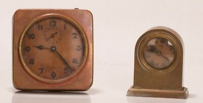 Two clocks one copper cased alarm one small domed for restoration or spares