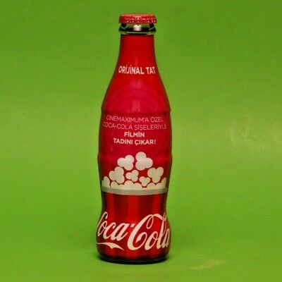 2019 Coca Cola Turkey Empty Glass Turkish Bottle Special For Cinema Opening