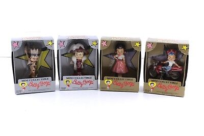 """LOT of 4 BETTY BOOP mini collectibles precious kids NEW IN BOX figures 5"""""""