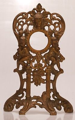 Ormolu mount for clock or photo Rococo style cherubs C Scrolls Face of Aphrodite