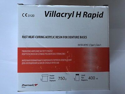 Dental Heat curing acrylic resin for denture bases rapid 750g + 400ml Zhermack