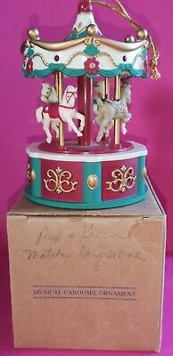 Avon The Gift Collection Christmas Carousel  Light Up Musical Ornament
