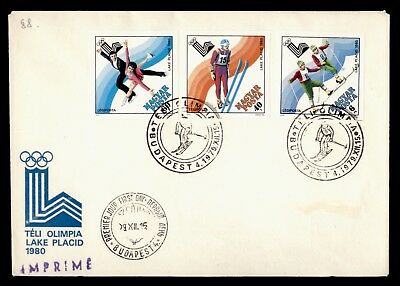 DR WHO 1979 HUNGARY FDC WINTER OLYMPICS LAKE PLACID IMPERF COMBO  d63278