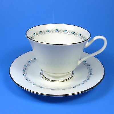 Oxford BLUEFIELD Bone China Cup & Saucer Made in USA Lenox