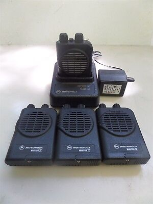 Lot of 4 Motorola Minitor IV Pagers with Charger