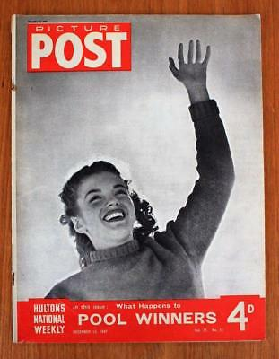 Vintage Picture Post Magazine MARILYN MONROE Cover December 13th 1947