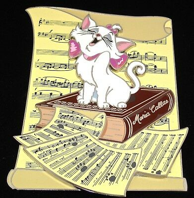 RARE LE 100 FRAMED Jumbo Disney Pin ✿ Aristocats Cat Marie Diva Sheet Music Book