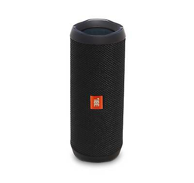 JBL FLIP 4 Black Portable Bluetooth Speaker (Certified Refurbished)