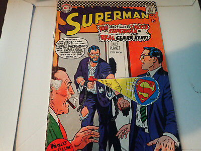 Superman (1939 series) #198 in Good + condition. DC comics Real Clark Kent