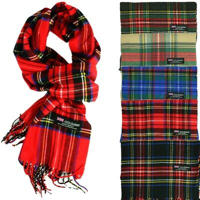 For Womens Royal Stewart 100% CASHMERE Scarf Check Plaid Tartan Made In SCOTLAND