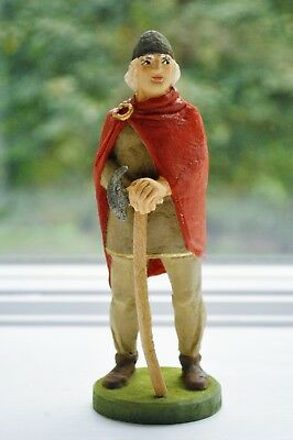 Norwegian Henning Hand Carved Wood Viking Man with Axe Vintage