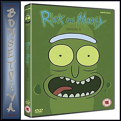 Rick & Morty - Complete Season 3 - Third Season **Brand New Dvd **