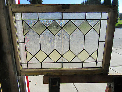 ~ ANTIQUE AMERICAN STAINED GLASS TRANSOM WINDOW ~ 31 x 22  ARCHITECTURAL SALVAGE