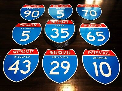 Highway Interstate Texas 35 Light Up Retro Sign 9 to choose from or customize