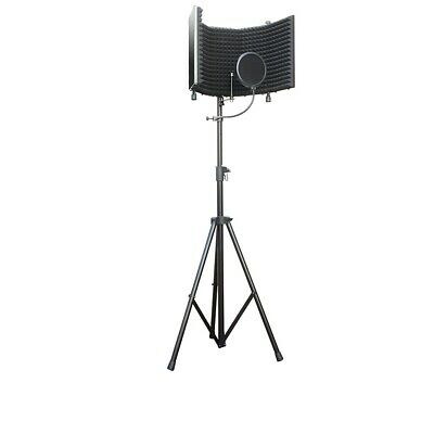 AxcessAbles SF-101KIT Recording Studio Microphone Isolation Shield w/ Stand NEW
