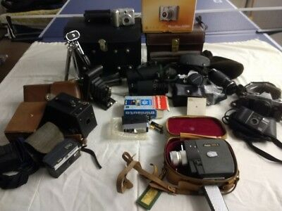 Collection Of Old and Retro Photography Cameras and accessories