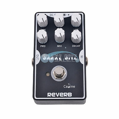 Caline CP-26 Reverb Guitar Stompbox BlacK with True Bypass Design Pedal Black