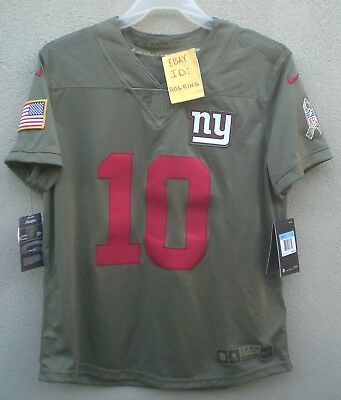 sports shoes 65c4c 6d01c ELI MANNING SALUTE To Service XXL Nike Jersey NY Giants ...