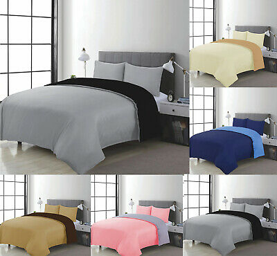 Plain Duvet Cover Quilt Set PillowCases Or Fitted Sheet Single Double,King,SKing