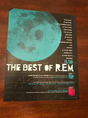2003 VINTAGE 10X12 ALBUM PROMO PRINT Ad FOR IN TIME:THE BEST OF REM R.E.M. 88-03