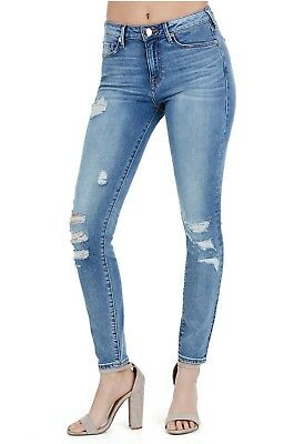 True Religion Womens $199 Jeans Halle High Rise Super Skinny Blue Bird WDACB958F