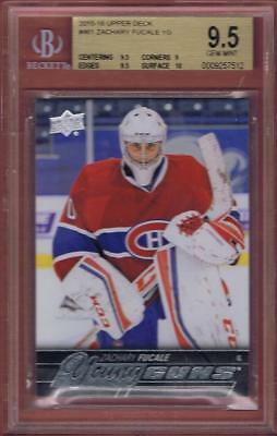 2015-16 Upper Deck Zachary Fucale Young Guns #461 Rookie Bgs 9.5 Rc Yg Ud 15-16