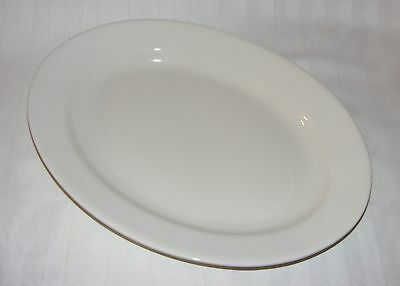 "Vintage Antique English White Ironstone China 16"" Serving Tray Platter  1910"