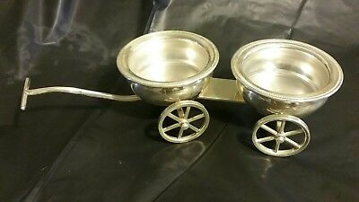 F. B. Rogers Silver Co. 1883 Trademark Wagon with 2 plastic saucers