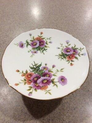 VINTAGE HAMMERSLEY  BONE CHINA Pedestal DISH # 4149 FLOWER DESIGN