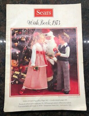 Vintage 1973 Sears Christmas Wish Book Catalog - 387 Pages